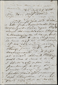 Letter from Charles F. Hovey, Paris, [France], to Mary Anne Estlin, 1854 July 28
