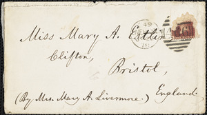 Letter from Mary Ashton Livermore, Liverpool, [England], to Mary Anne Estlin, 1878 July 22