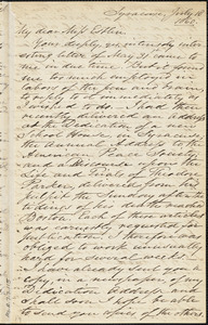 Letter from Samuel Joseph May, Syracuse, [New York], to Mary Anne Estlin, 1860 July 18