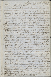 Letter from Samuel Joseph, New York, to Mary Anne Estlin, 1861 Feb[ruary] 12