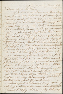 Letter from Samuel Joseph, Syracuse, [New York], to Mary Anne Estlin, 1865 June 26
