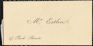Letter from I.S. Waring, [Bristol, England], to Mary Anne Estlin