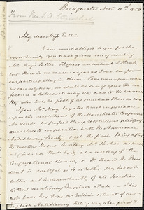 Letter from S. Alfred Steinthal, Bridgewater, [England], to Mary Anne Estlin, 1854 Nov[ember] 10