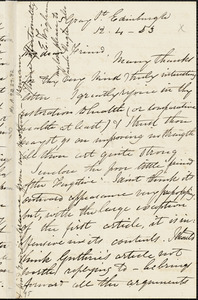Letter from Eliza Wigham, Edinburgh, [Scotland], to Mary Anne Estlin, 1853 [April] 12