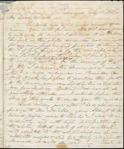 Letter from Samuel Joseph May, Brooklyn, [Connecticut], to William Lloyd Garrison, 1831 July 18