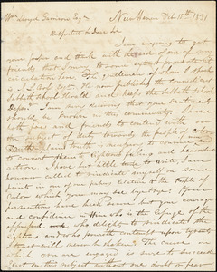Letter from Simeon Smith Jocelyn, New Haven, [Connecticut], to William Lloyd Garrison, 1831 Feb[ruary] 15th