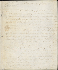 Letter from Lydia White, Philad[elphi]a, [Pennsylvania], to William Lloyd Garrison, 1831 [May] 9th