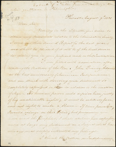 Letter from James Forten, Philad[elphi]a, [Pennsylvania], to William Lloyd Garrison, 1831 August 9th