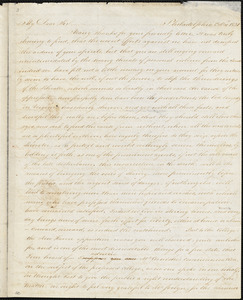 Letter from James Forten, Philadelphia, [Pennsylvania], to William Lloyd Garrison, 1831 Oct[ober] 20