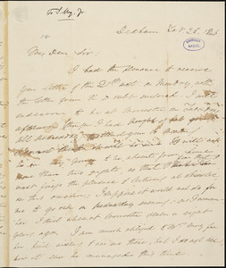 Letter from Edmund Quincy, Dedham, [Massachusetts], to Samuel May, 1846 Feb[ruary] 25