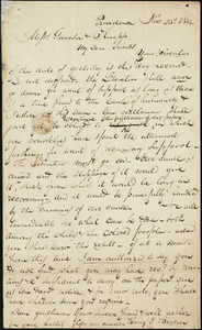 Letter from Henry Egbert Benson, Providence, [Rhode Island], to Willaim Lloyd Garrison and Isaac Knapp, 1832 Nov[ember] 23d