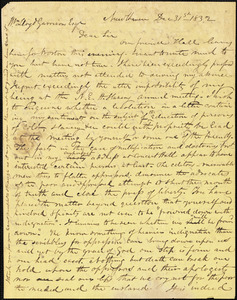 Letter from Simeon Smith Jocelyn, New Haven, [Connecticut], to William Lloyd Garrison, 1832 Dec[ember] 31st