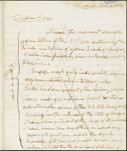 Letter form Theodore Dwight Weld, Hartford, [Connecticut], to William Lloyd Garrison, 1833 Jan[uary] 1
