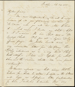 Letter from George Thompson, Brooklyn, [New York], to Robert Purvis, 1835 Feb[ruary] 24