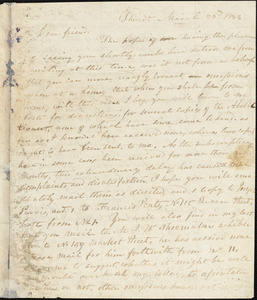 Letter from Joseph Cassey, Philad[elphi]a, [Pennsylvania], to William Lloyd Garrison, 1833 March 23d