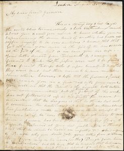 Letter form Nathaniel Paul, London, [England], to William Lloyd Garrison, 1833 August 31
