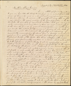 Letter from Emery Brown and Louis O. Cowan, Augusta, M[ain]e, to William Lloyd Garrison, 1833 October 21st
