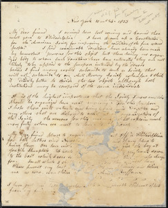 Letter from Arnold Buffum, New York, [New York] to William Lloyd Garrison, 1833 [October] 26