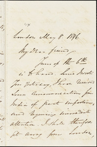 Letter from George Thompson, London, [England], to Henry Clarke Wright, 1846 May 8