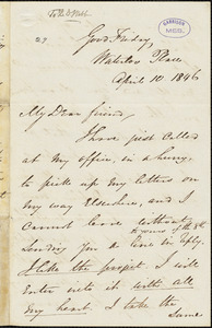 Letter from George Thompson, London, [England], to Richard Davis Webb, 1846 April 10