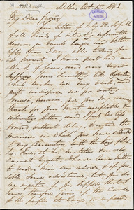 Letter from George Thompson, Delhi, [India], to Richard Davis Webb, 1843 Oct[ober] 15