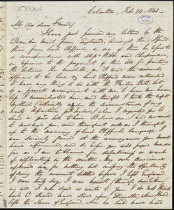 Letter from George Thompson, Calcutta, [India], to Richard Davis Webb, 1843 Feb[ruary] 24