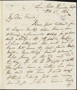 Letter from George Thompson, London, [England], to Richard Davis Webb, 1842 Oct[ober] 27
