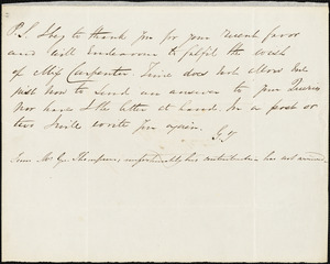 Letter from George Thompson to John Bishop Estlin, [1848]