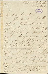 Letter from James Haughton, Dublin, [Ireland], to George Thompson, 1846 December 13
