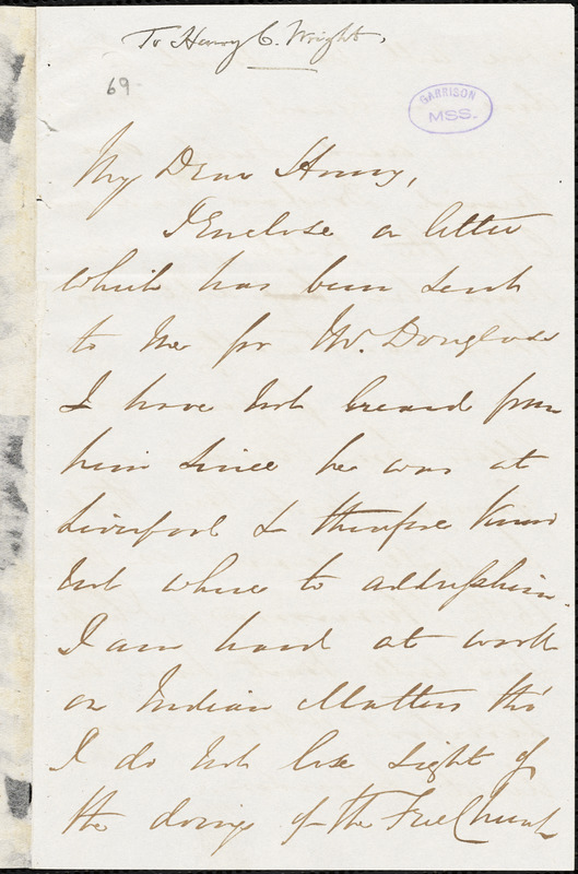 Letter from George Thompson, London, [England], to Henry Clarke Wright, 1846 July 15
