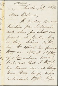 Letter from George Thompson, London, [England], to Richard Davis Webb, 1846 July 12