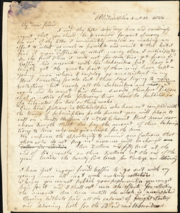 Letter from Arnold Buffum, Philadelphia, [Pennsylvania], to William Lloyd Garrison, 1834 [April] 12