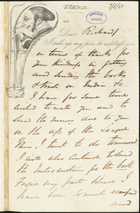 Letter from George Thompson, London, [England], to Richard David Webb, 1850 July 8