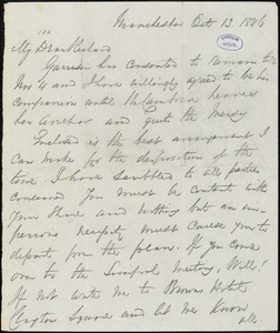 Letter from George Thompson, London, [England], to Richard David Webb, 1846 Oct[ober] 13
