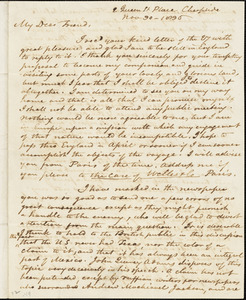Letter from David Lee Child, London, [England], to George Thompson, 1836 Nov[ember] 30