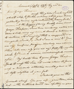 Letter from Nathaniel Peabody Rogers, Concord, [Massachusetts], to George Thompson, 1835 [September 5]