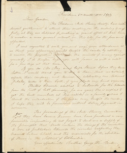 Letter from George William Benson, Providence, [Rhode Island], to William Lloyd Garrison, 1834 [June] 10th