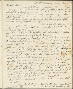 Letter from Ray Potter, Pawtucket, [Rhode Island], to William Lloyd Garrison, 1834 June 18