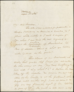 Letter from James F. Otis, Portland, [Maine], to William Lloyd Garrison, 1835 April 10