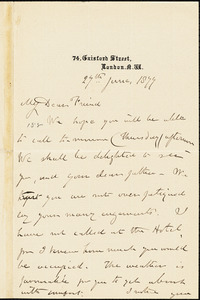 Letter from Mary Anne Estlin, [Bristol, England], to Francis Jackson Garrison, 1877 June 28