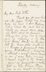 Letter from J. Waring to Mary Anne Estlin
