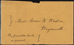 Letter from Francis Bishop, Manchester, [England], to Mary Anne Estlin, 1851 March 1