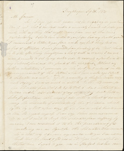 Letter from Nathan Blount, Poughkeepsie, [New York], to William Lloyd Garrison, 1835 Sep[tember] 21st