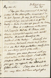 Letter from Henry Crabb Robinson, London, [England], to John Bishop Estlin, 1847 June-November 30