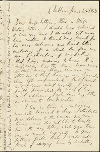 Letter from Richard Davis Webb, Dublin, [Ireland], to Mary Anne Estlin, 1853 June 25