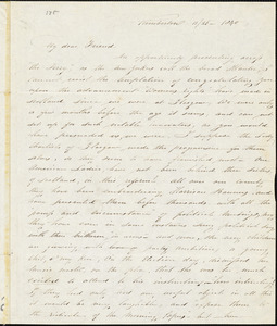 Letter from Abby Kimber, Kimberton, [Pennsylvania], to George Thompson, 1840 [November] 26
