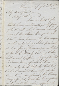 Letter from William Smeal, Glasgow, [Scotland], to Mary Anne Estlin, [18]53 [May] 17