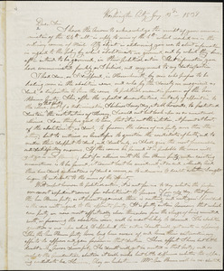 Letter from Nathaniel Briggs Borden, Washington City, [District of Columbia], to William Lloyd Garrison, 1839 Jan[uar]y 3d