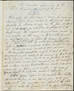 Letter from Boston Female Anti-slavery Society