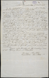 Letter from Thomas Borton, Selma, Clark Co[unty], Ohio, to William Lloyd Garrison, 1848 [March] 2nd